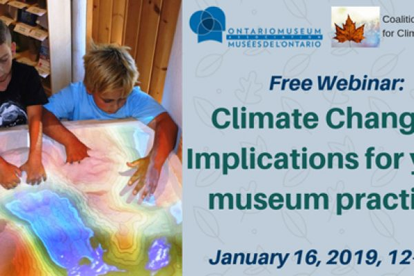 Ontario museums taking climate action – Free webinar Jan. 16