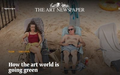HOW THE ART WORLD IS GOING GREEN