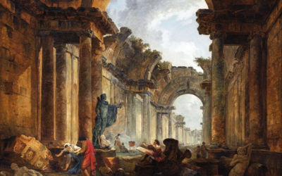Hubert Robert, Vue imaginaire de la Grande Galerie du Louvre en ruines